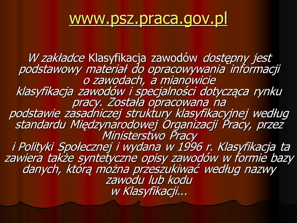 www.psz.praca.gov.pl