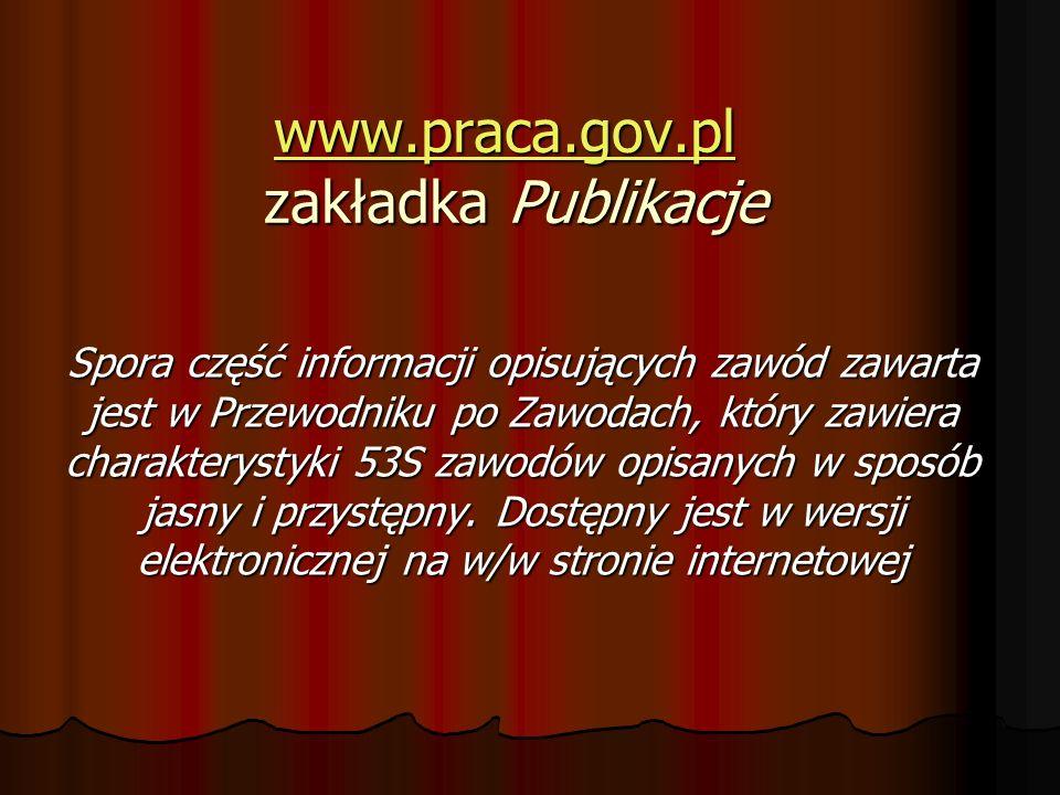 www.praca.gov.pl zakładka Publikacje