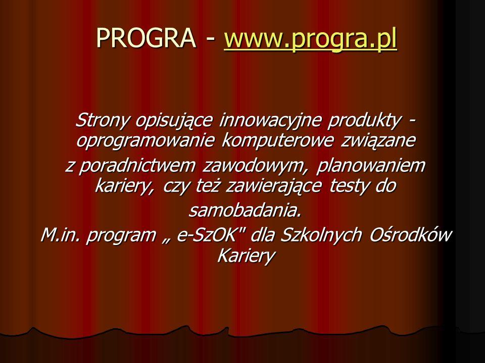 """M.in. program """" e-SzOK dla Szkolnych Ośrodków Kariery"""