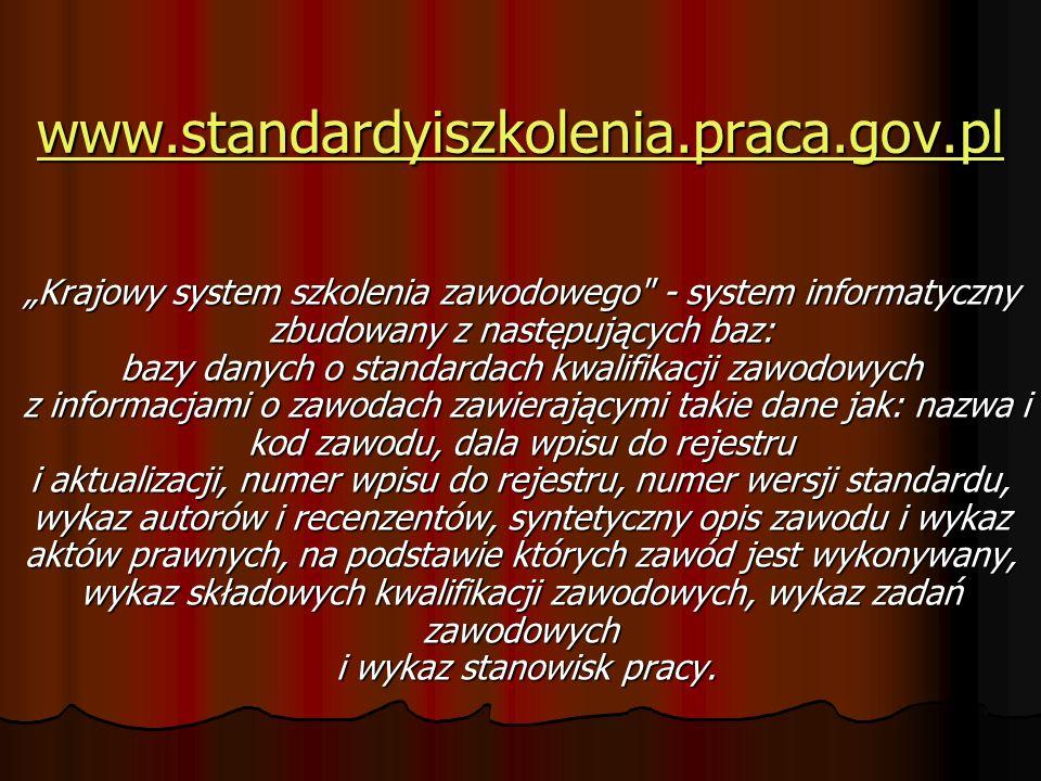 www.standardyiszkolenia.praca.gov.pl