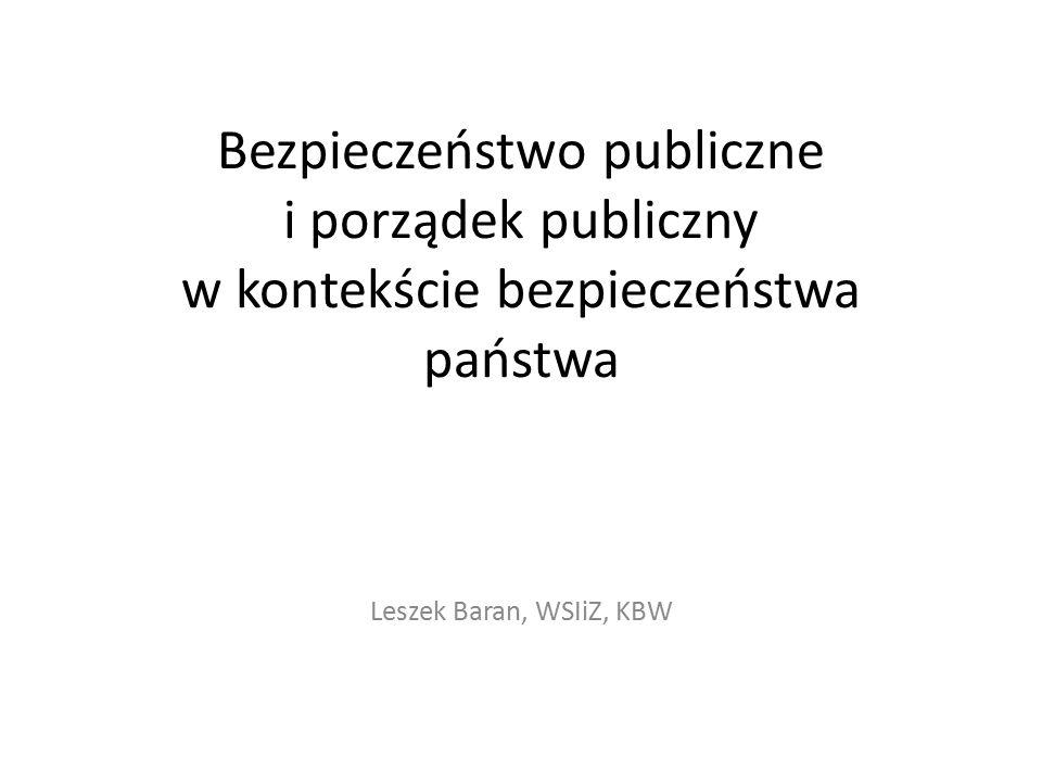 Bezpieczeństwo publiczne i porządek publiczny w kontekście bezpieczeństwa państwa
