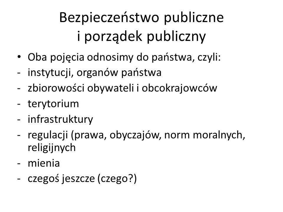 Bezpieczeństwo publiczne i porządek publiczny