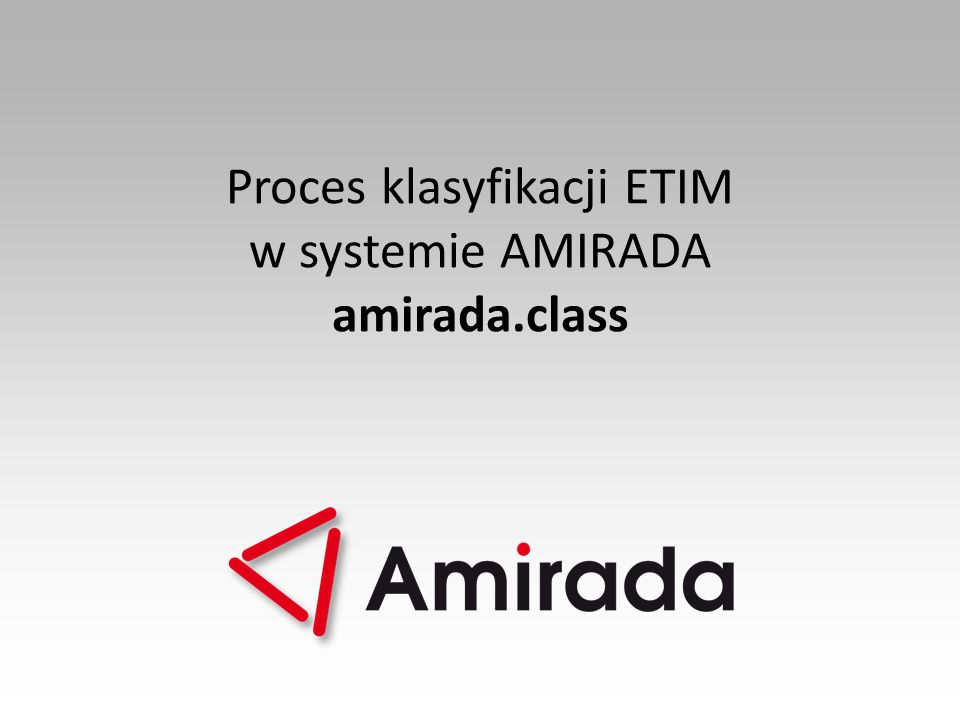 Proces klasyfikacji ETIM
