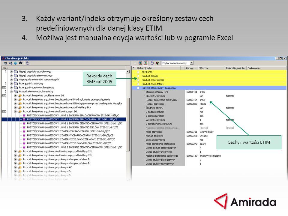 4. Możliwa jest manualna edycja wartości lub w pogramie Excel
