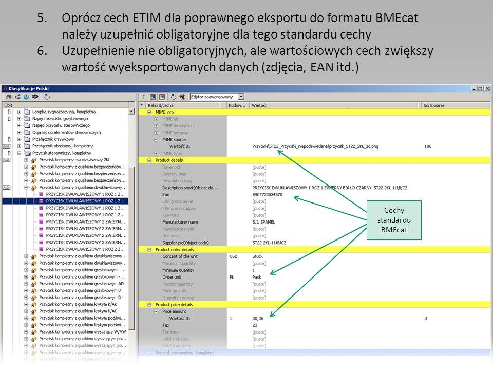 Cechy standardu BMEcat