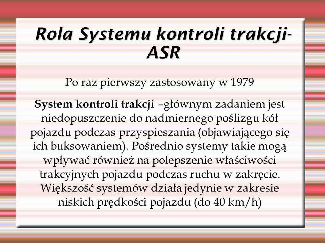 Rola Systemu kontroli trakcji-ASR