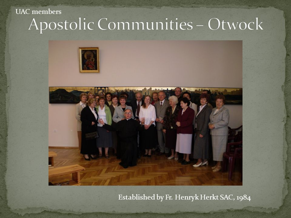 Apostolic Communities – Otwock