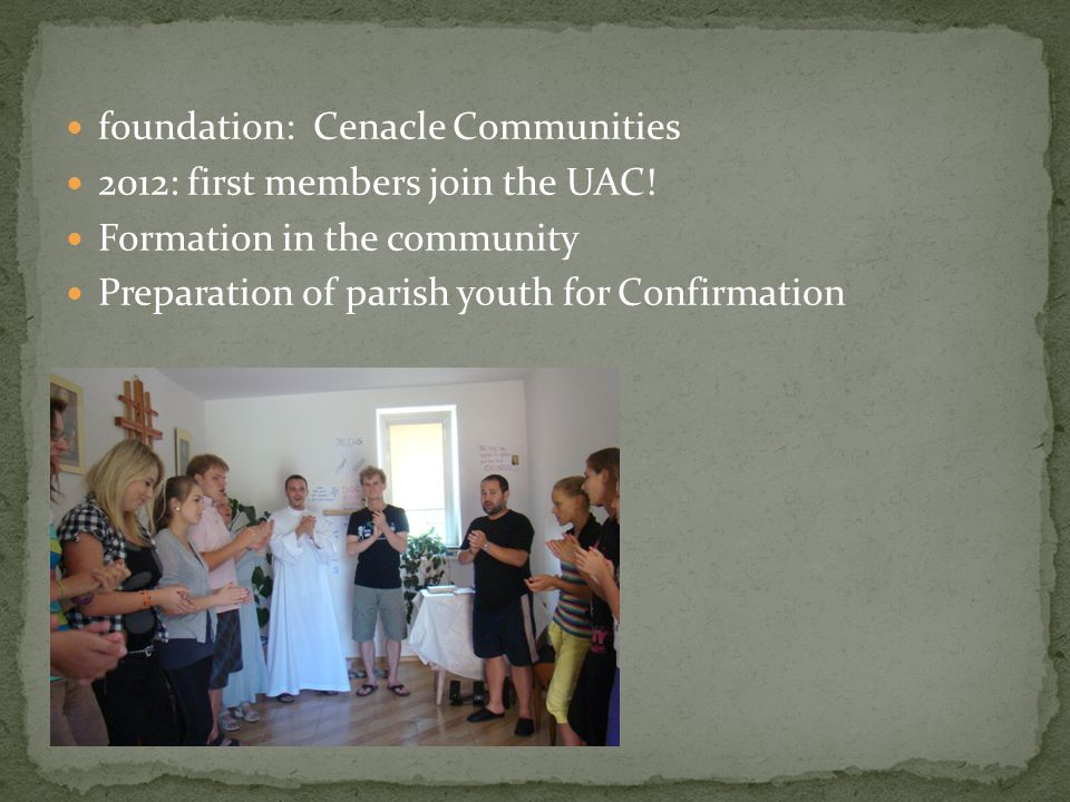 foundation: Cenacle Communities