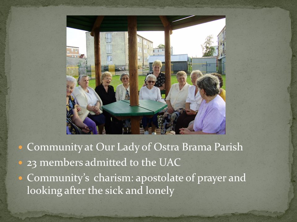 Community at Our Lady of Ostra Brama Parish