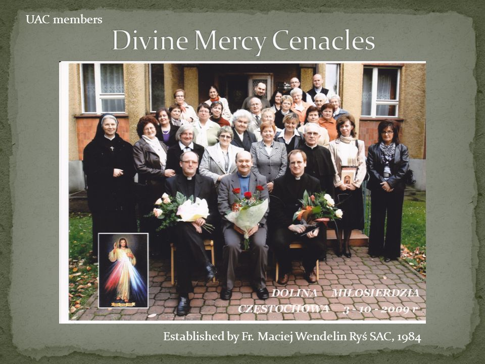 Divine Mercy Cenacles UAC members