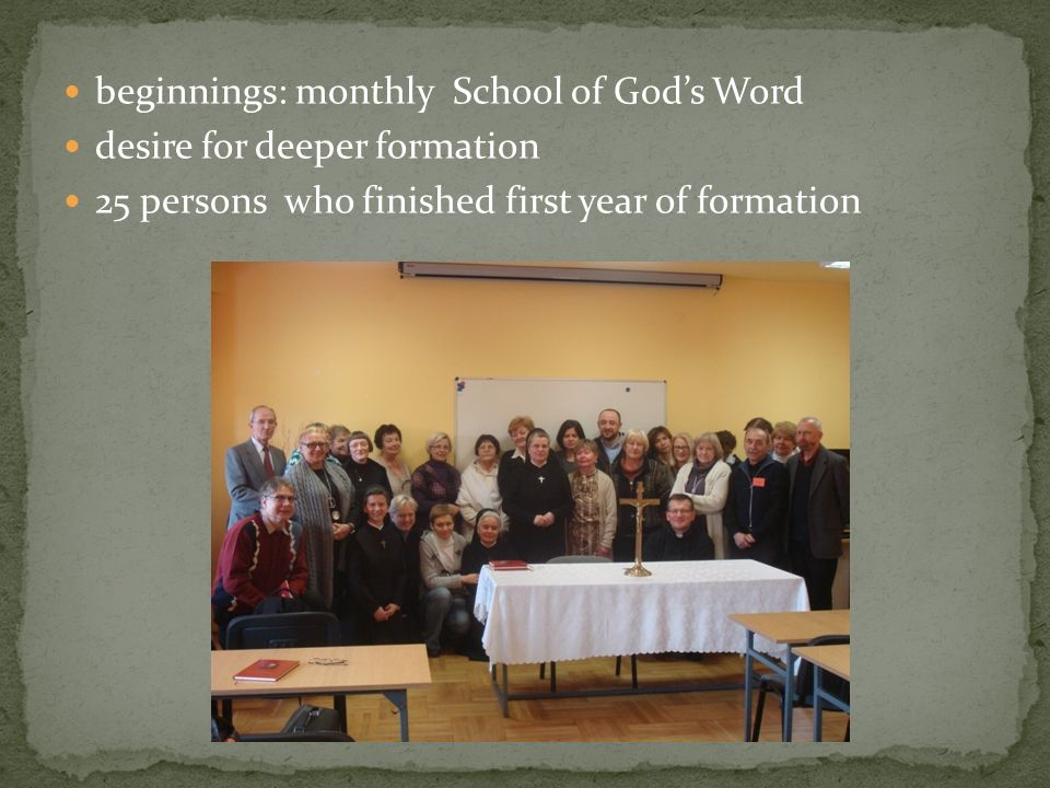 beginnings: monthly School of God's Word