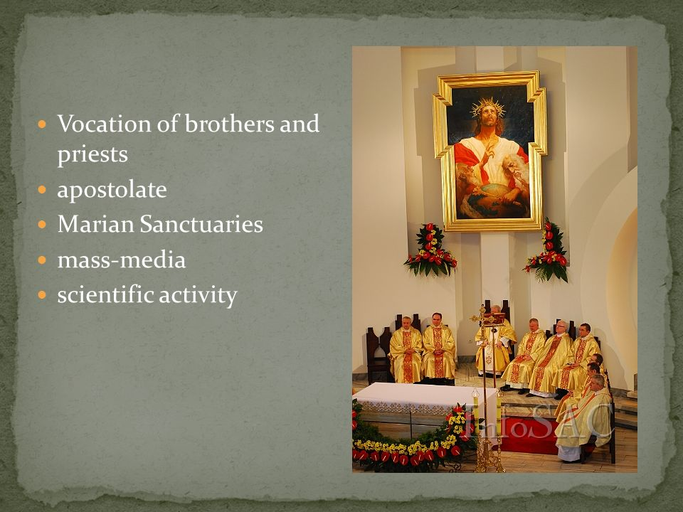 Vocation of brothers and priests