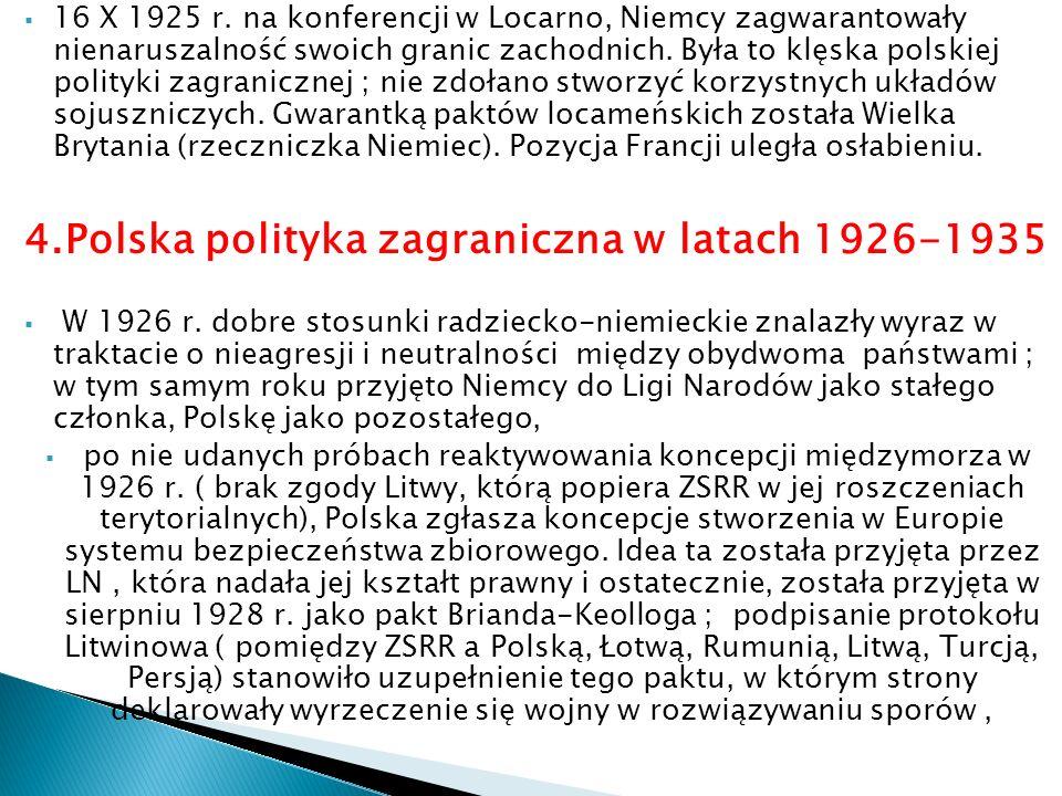 4.Polska polityka zagraniczna w latach 1926-1935