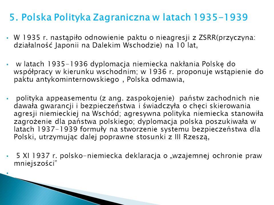 5. Polska Polityka Zagraniczna w latach 1935-1939