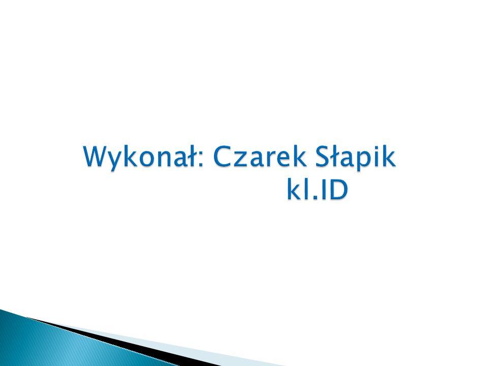 Wykonał: Czarek Słapik kl.ID