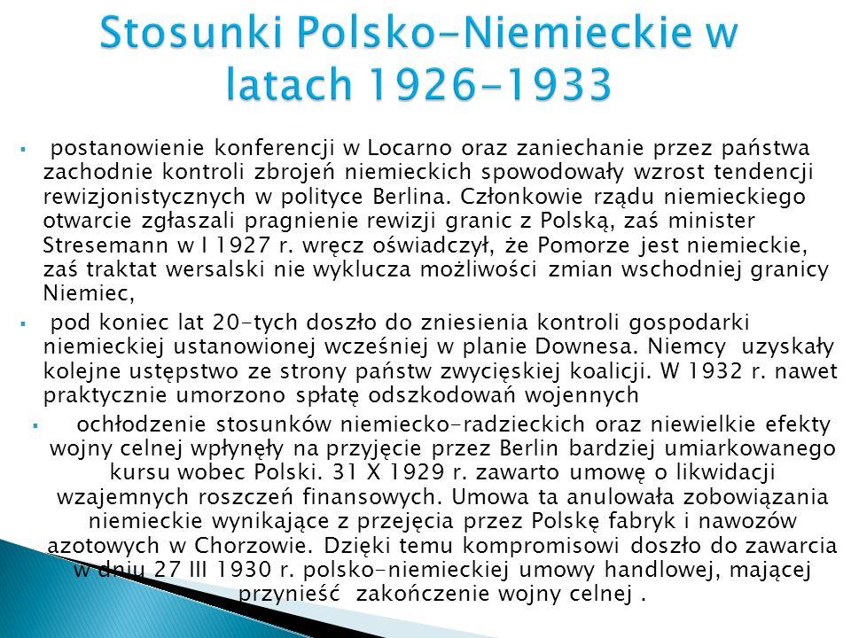Stosunki Polsko-Niemieckie w latach 1926-1933