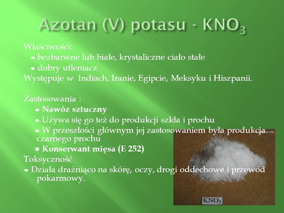 Azotan (V) potasu - KNO3
