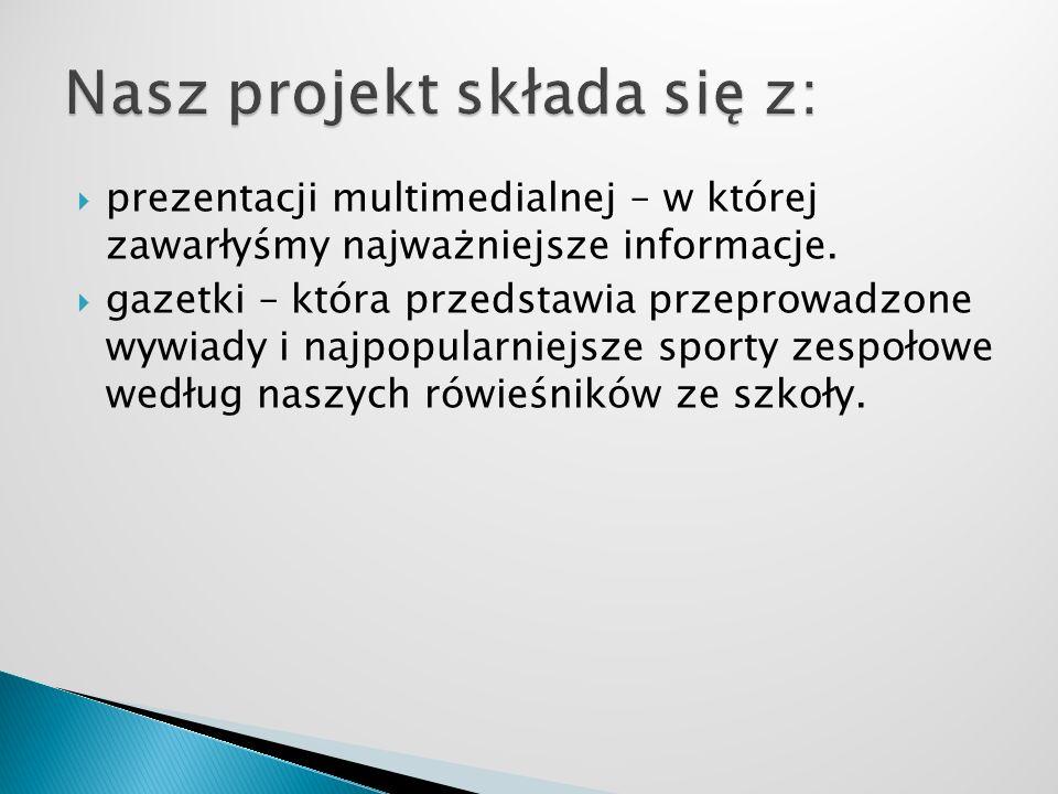 Nasz projekt składa się z: