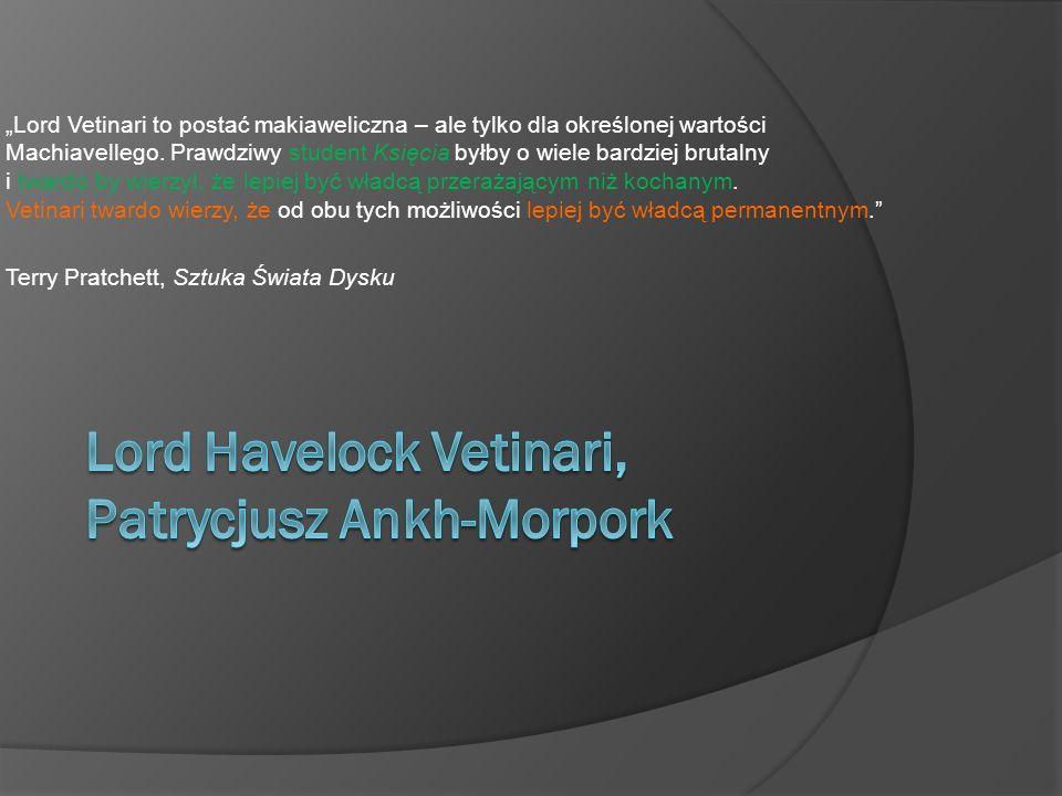 Lord Havelock Vetinari, Patrycjusz Ankh-Morpork