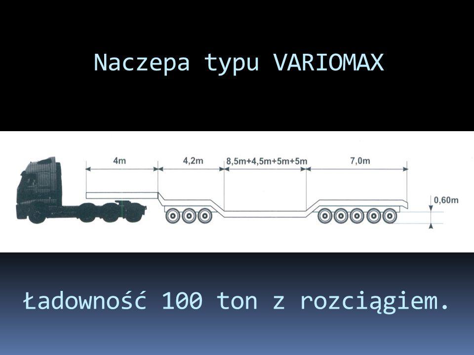 Ładowność 100 ton z rozciągiem.