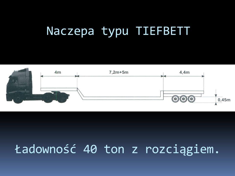 Ładowność 40 ton z rozciągiem.