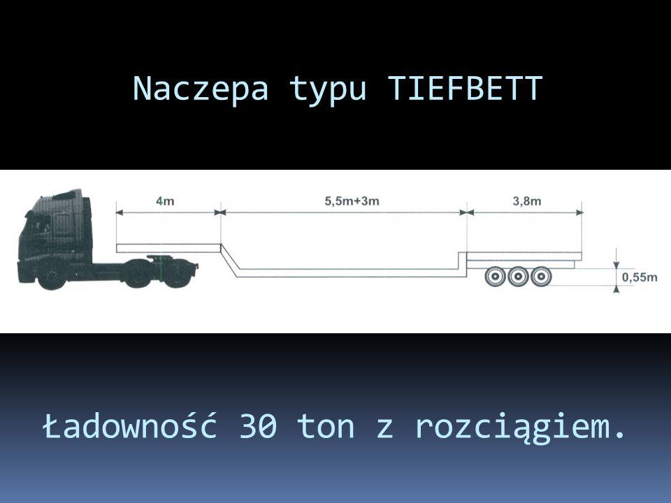 Ładowność 30 ton z rozciągiem.