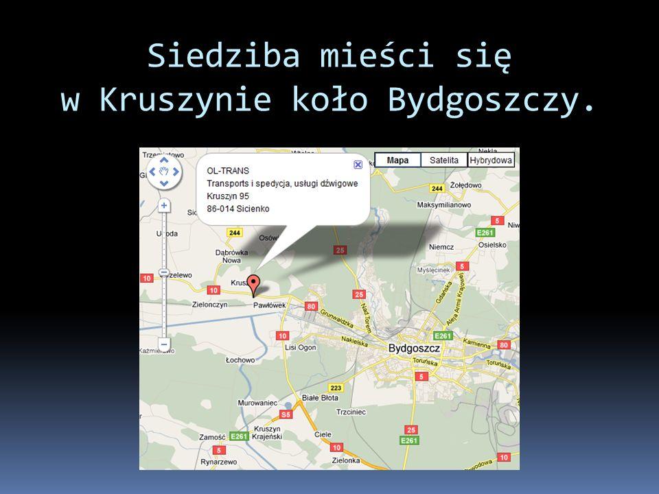 Siedziba mieści się w Kruszynie koło Bydgoszczy.