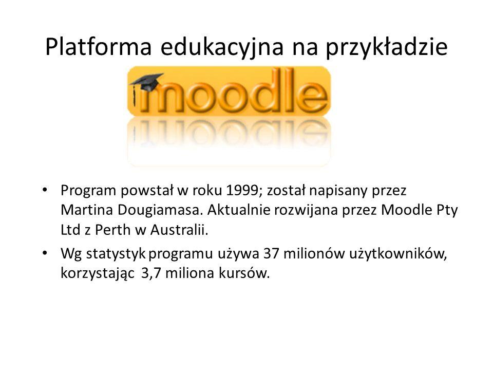 Platforma edukacyjna na przykładzie