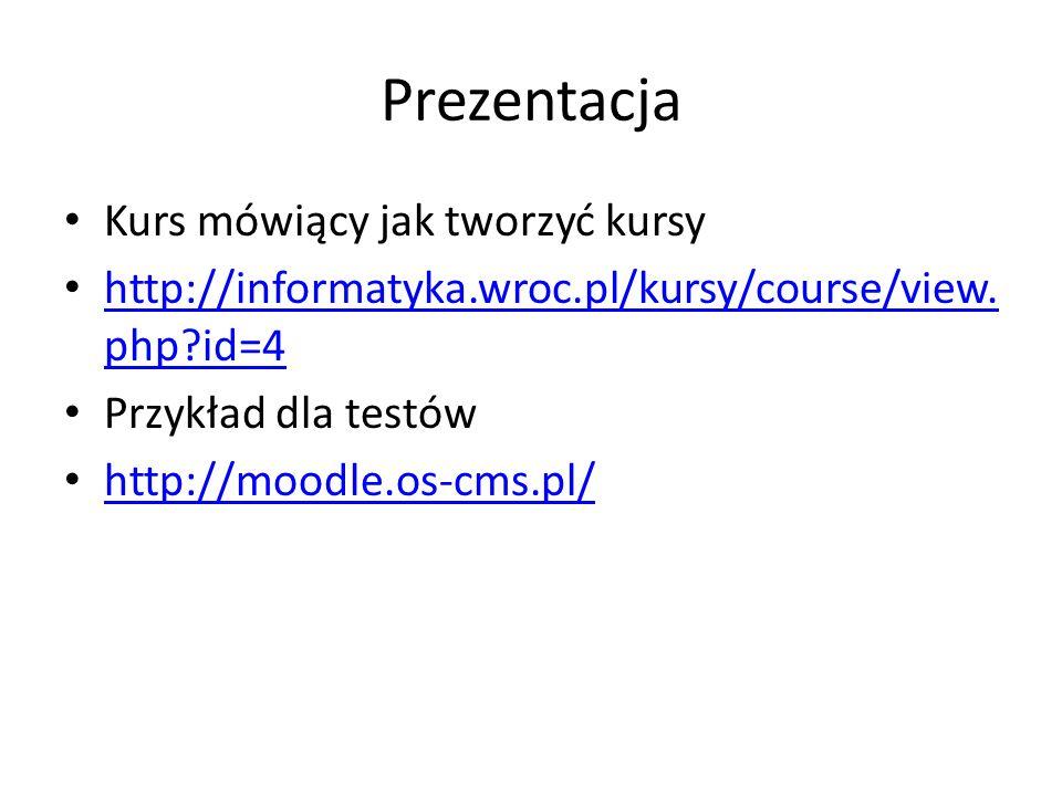 Prezentacja Kurs mówiący jak tworzyć kursy