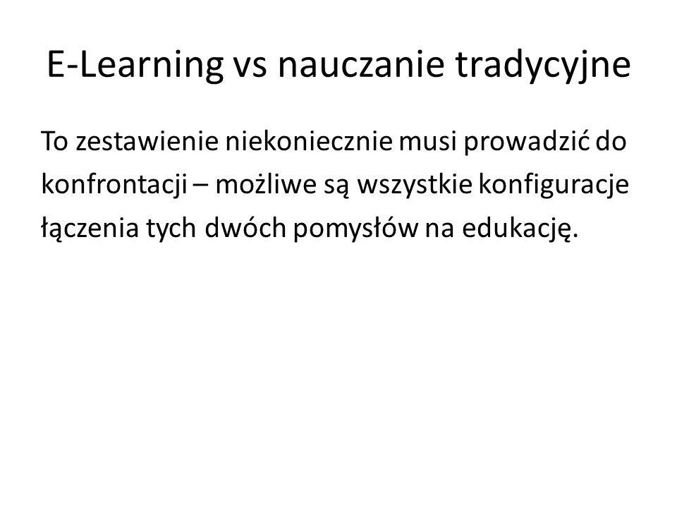 E-Learning vs nauczanie tradycyjne