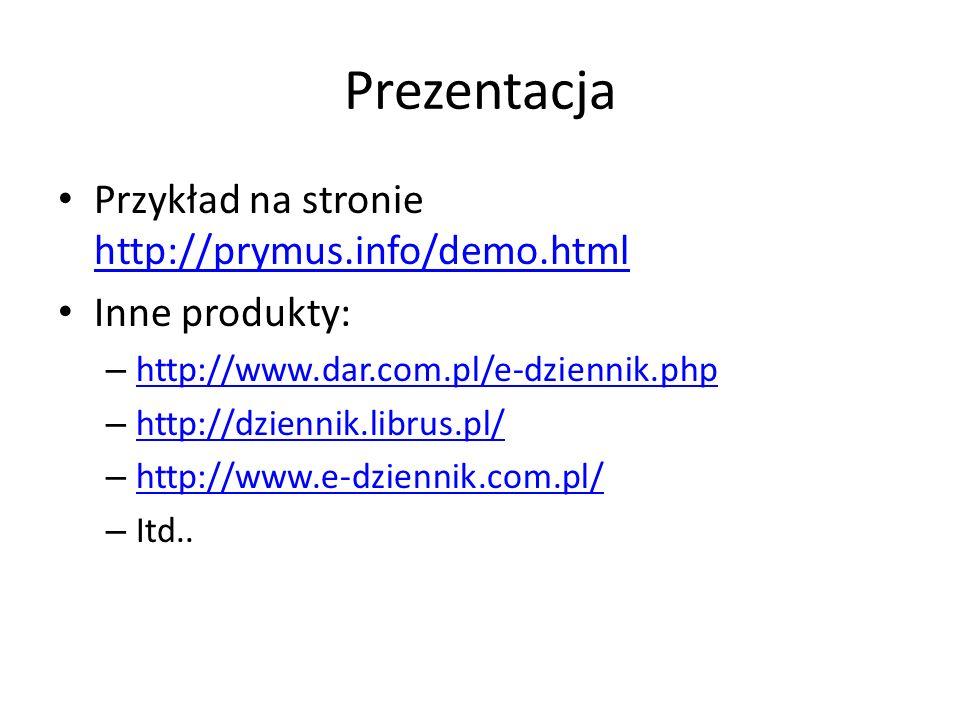 Prezentacja Przykład na stronie http://prymus.info/demo.html