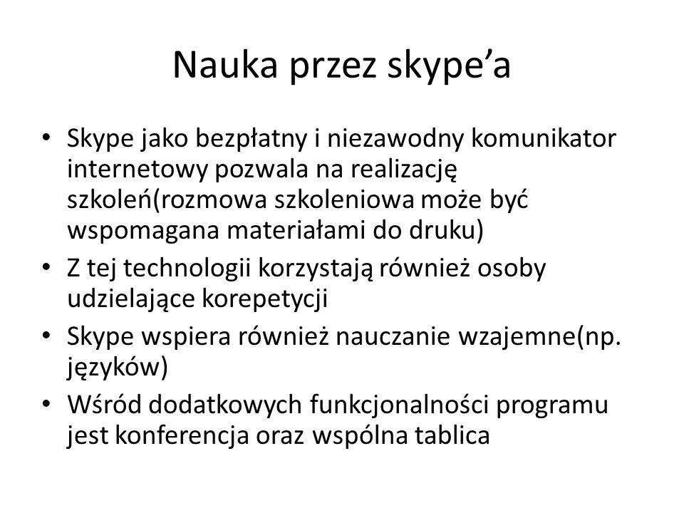 Nauka przez skype'a