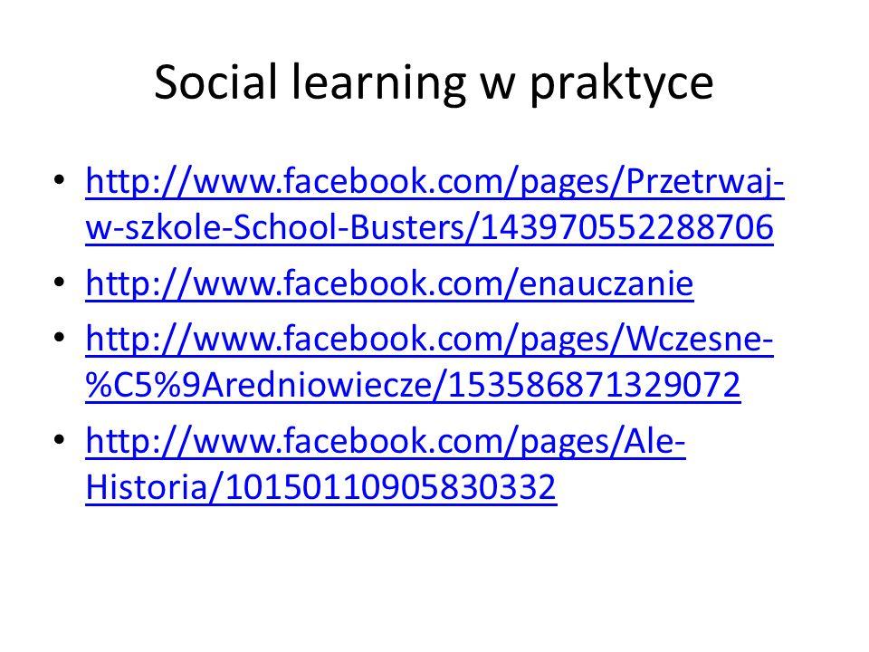 Social learning w praktyce