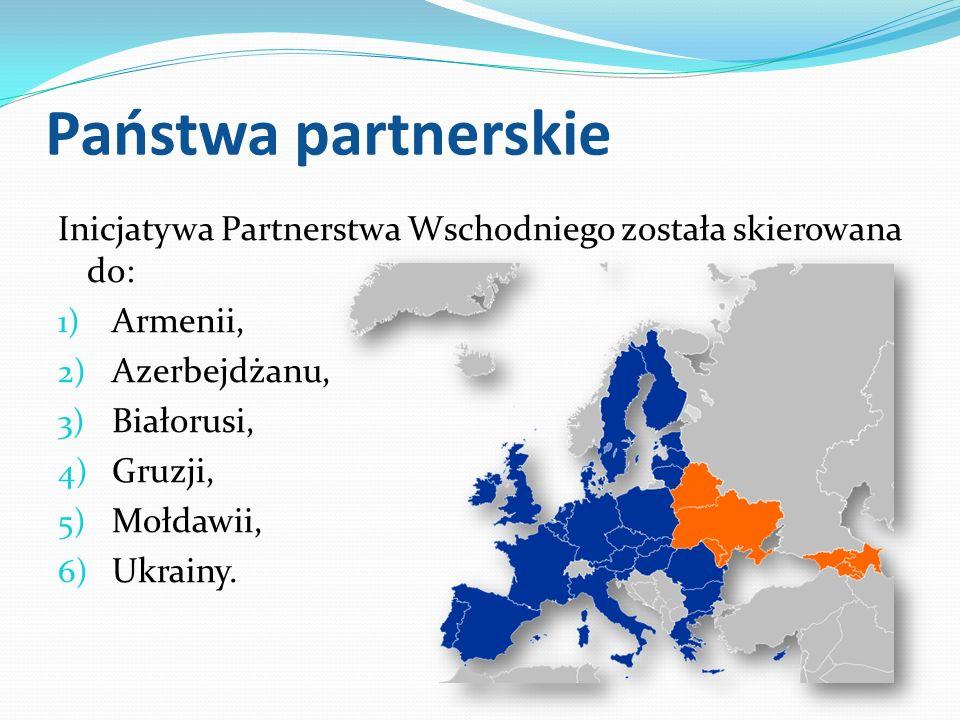 Państwa partnerskie Inicjatywa Partnerstwa Wschodniego została skierowana do: Armenii, Azerbejdżanu,