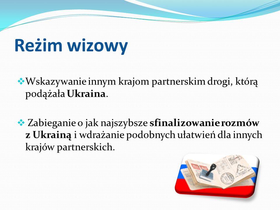 Reżim wizowy Wskazywanie innym krajom partnerskim drogi, którą podążała Ukraina.