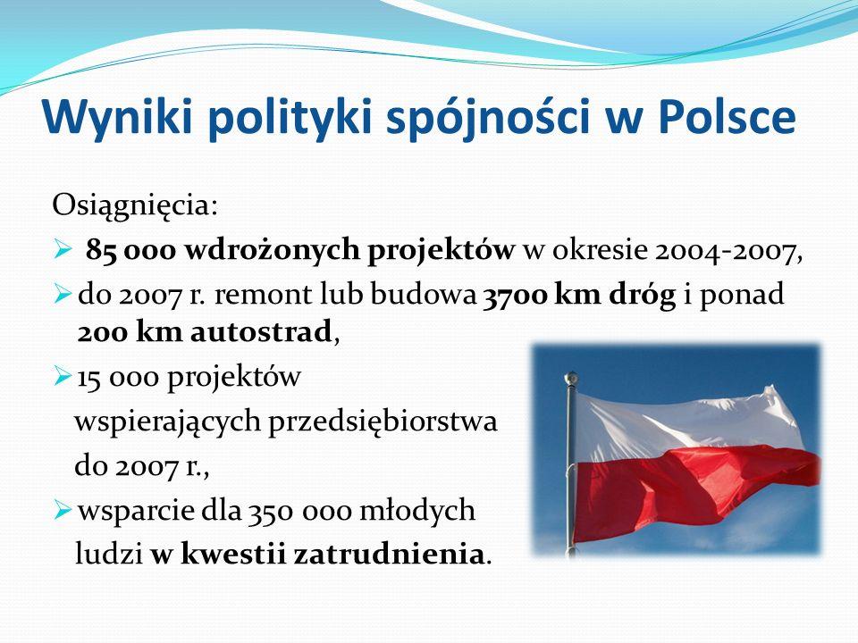 Wyniki polityki spójności w Polsce