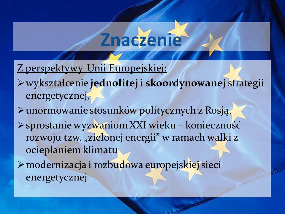 Znaczenie Z perspektywy Unii Europejskiej: