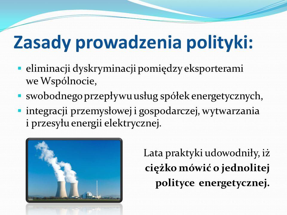 Zasady prowadzenia polityki: