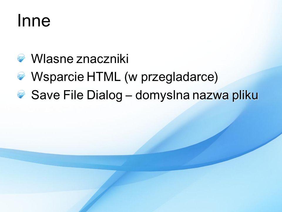 Inne Wlasne znaczniki Wsparcie HTML (w przegladarce)