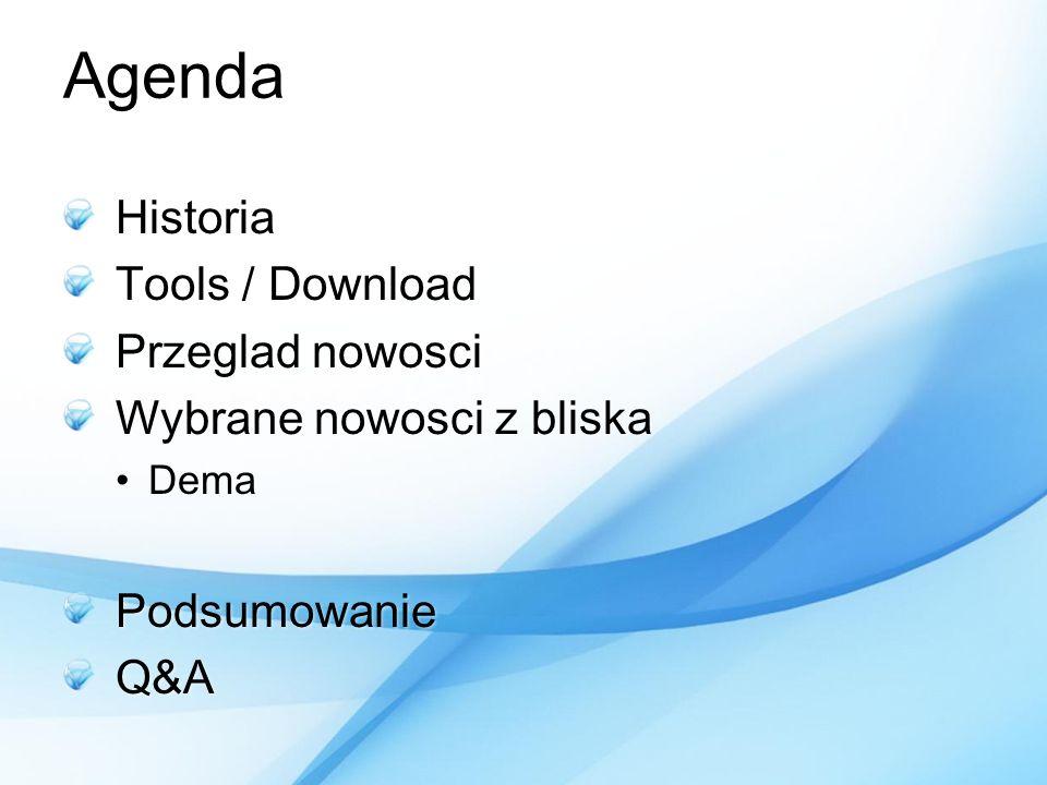 Agenda Historia Tools / Download Przeglad nowosci