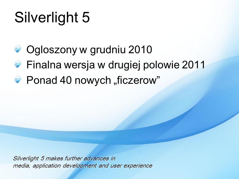Silverlight 5 Ogloszony w grudniu 2010
