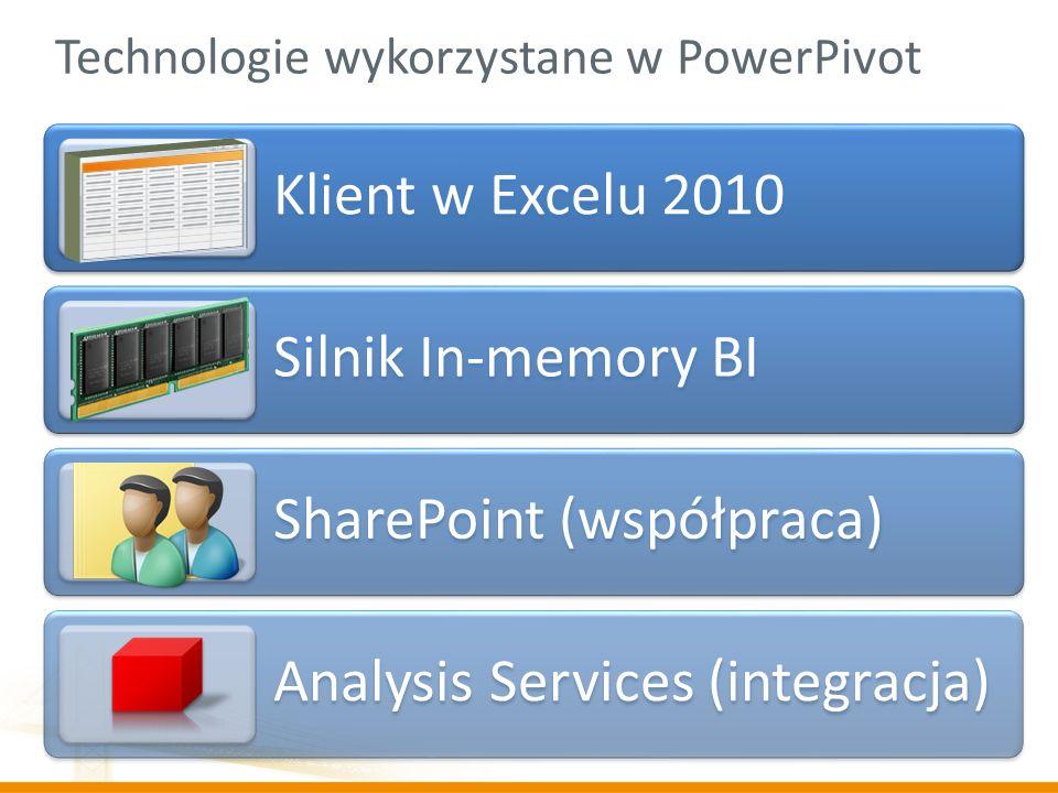 Technologie wykorzystane w PowerPivot