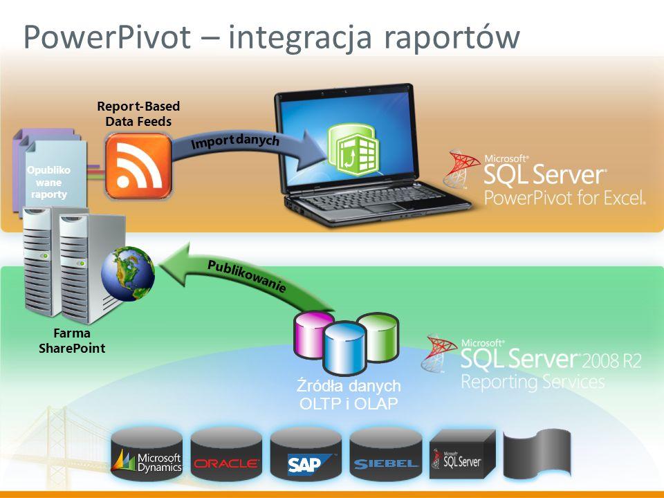 PowerPivot – integracja raportów