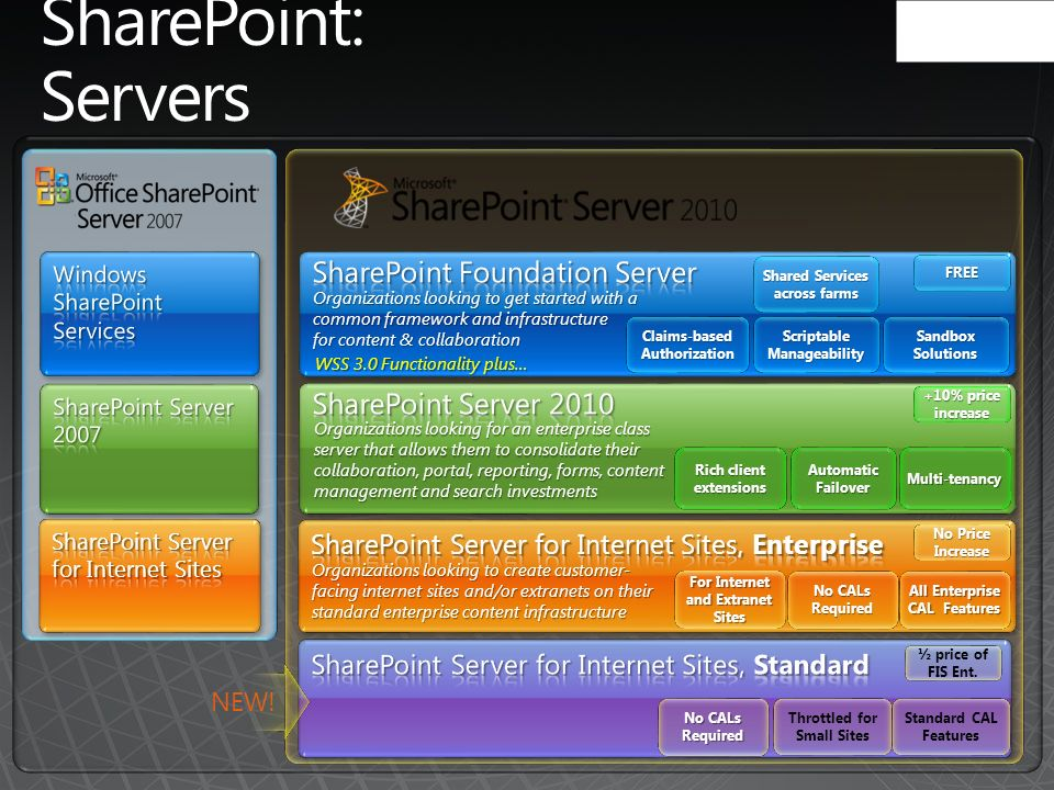 SharePoint: Servers SharePoint Foundation Server