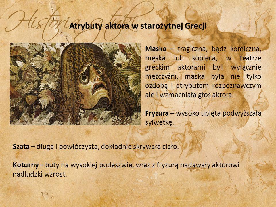 Atrybuty aktora w starożytnej Grecji