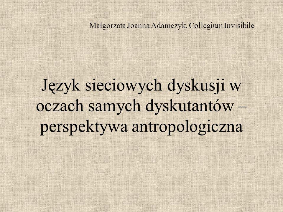 Małgorzata Joanna Adamczyk, Collegium Invisibile