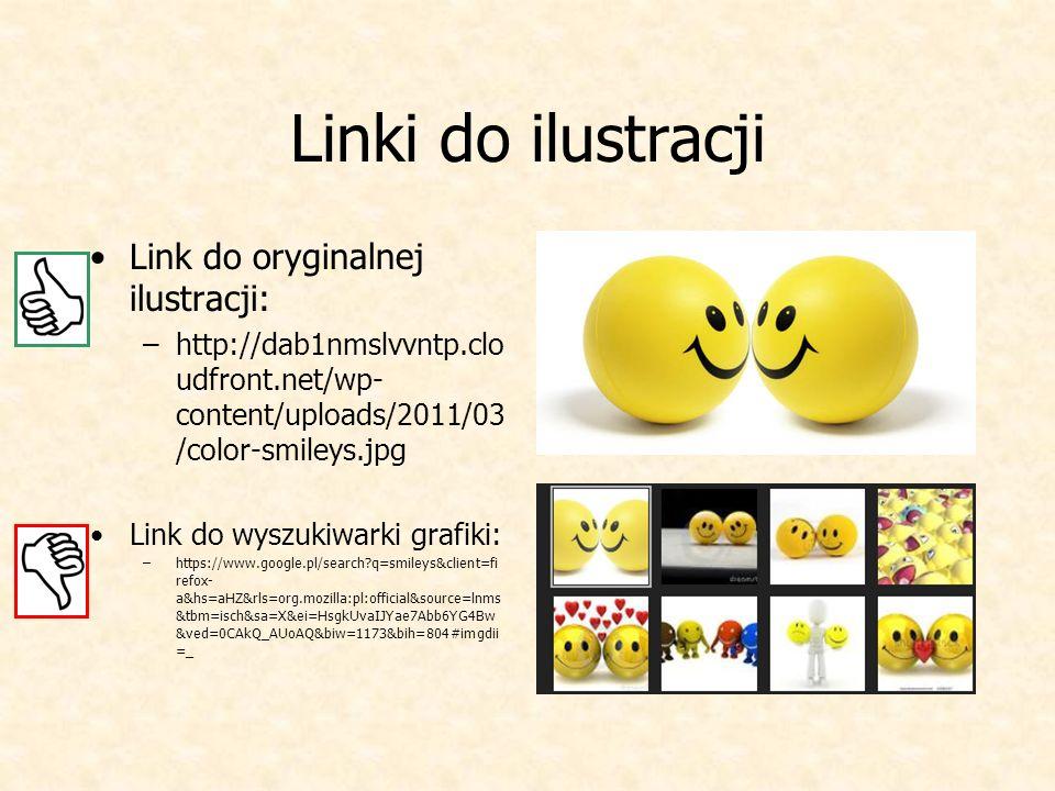 Linki do ilustracji Link do oryginalnej ilustracji:
