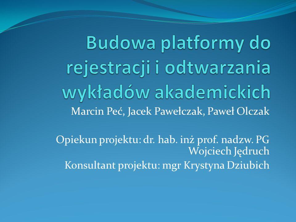 Budowa platformy do rejestracji i odtwarzania wykładów akademickich