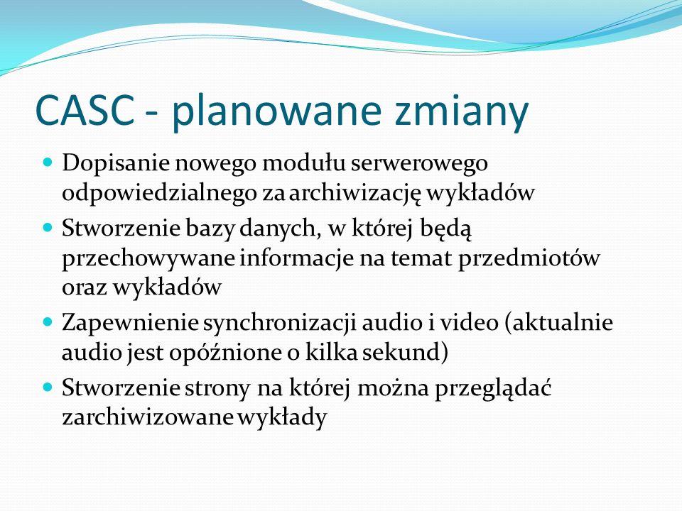 CASC - planowane zmiany