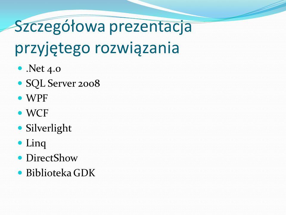 Szczegółowa prezentacja przyjętego rozwiązania
